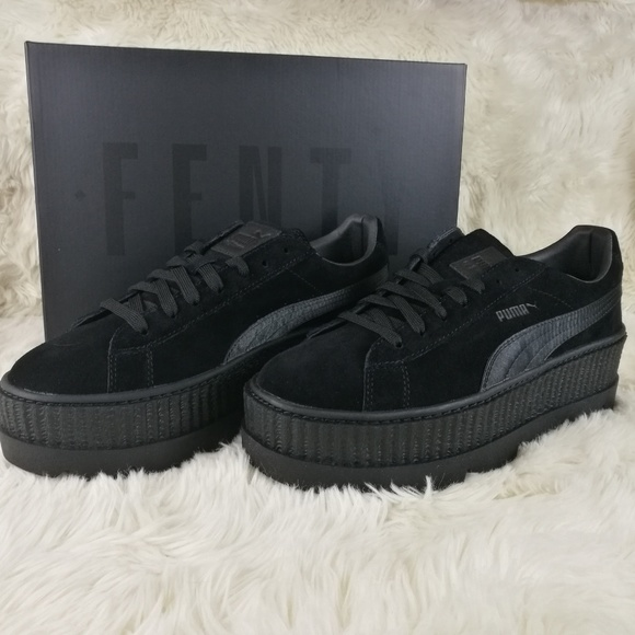 info for 7dcd1 dce8a FENTY PUMA Rihanna Suede Cleated Creepers Size 9.5 NWT